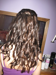 curled hair (hot monster) Tags: hair mirror dance pretty dress curly hairspray masterpiece preparing gettingready brownhair curledhair cupidscrush beforedances
