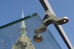 Bahnhofplatz Bern, die Glasaufhängungen rosten