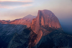 Half Dome Sunset, Yosemite NP (Tyler Westcott) Tags: california sunset nationalpark october smokey glacierpoint alpenglow 2007 yosemitenp yosemiteblogcom nikond40