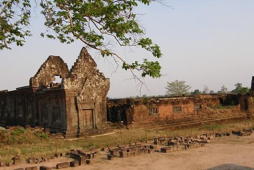 61.Wat Phu Champasak的Worship Pavilions