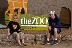 Aint they cute! (Susan Harner) Tags: springbreak mykids 2009 myanimals louisvillezoo familyouttings kennywesley