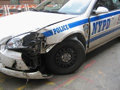 NYPD Accident. (buff_wannabe) Tags: nyc accident nypd policecar oops incident