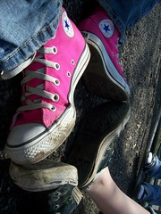 291 (BREananicOLE) Tags: shoes converse hightops kicks allstar chucks chucktaylors allstars strictlypinkconverse