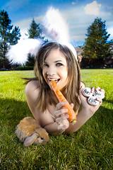 Happy Easter 07/365 (Talia Ybarra) Tags: trees grass contrast ears carrot eggs babybunny happyeasterflickr taliaybarra