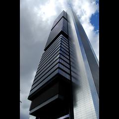 Rascando el cielo (casho10) Tags: madrid sky reflection art architecture modern skyscraper high spain arquitectura nikon perspective foster normanfoster garmendia rascacielo d40 ltytr1 unusualviewsperspectives casho10
