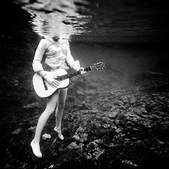 ♪ (SARAΗ LEE) Tags: bw woman reflection texture girl headless square hawaii underwater guitar surface figure bigisland buttonup sarahlee legothenego niap whitebuttonupshirt vivantvie weliweli