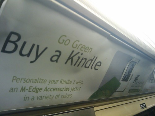 Amazon Markets Kindle As Green On NYC Subway