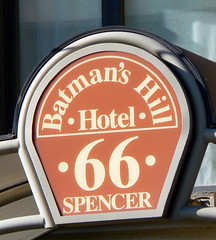batman's hill hotel sign