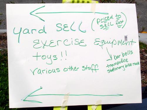 Yard Sell