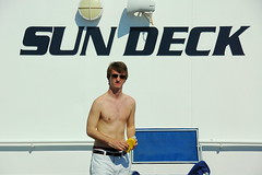 Um, could this be the sun deck? (oobwoodman) Tags: cruise pecs malcolm sundeck beefcake armonia