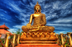 Monday Golden Blues (boiworx) Tags: nikon buddha philippines hdr tarlac d300 isdaan boiworx