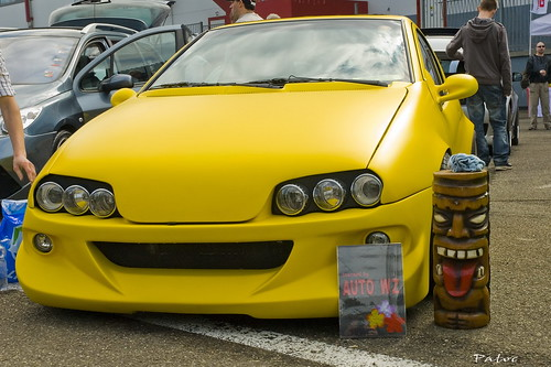 Tuning Opel Tigra Yellow