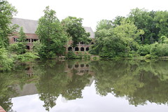 Dhall Across Boatwright Lake (Jonathan Zurick) Tags: school lake color college water campus virginia university richmond ur uofr dhall