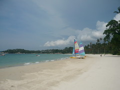 White sands and boat (songofthehighway) Tags: indonesia bintan banyantree