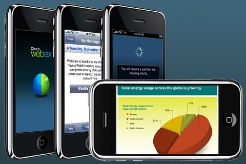 Cisco WebEx Meeting Center on the iPhone