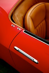 California (j.hietter) Tags: auto california red brown detail art classic beach leather ferrari spyder pebble exotic supercar 250
