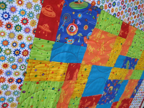 Rocket Quilt for Little B