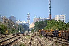 Kronk Highway Trainyard, Detroit (benft) Tags: skyline grit michigan detroit poles trainyard kronk