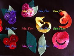 Broche de Rosas PAP 1 (Ada_Flor) Tags: flores broche flor rosa feltro pap acessorios