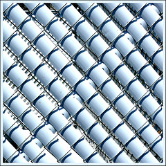 linked (fourcotts) Tags: white black fence florida diagonal chain link bradenton fourcotts haphazartsquare