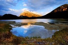 Mountain Light (jpnuwat) Tags: mountain lake canada reflection evening alberta banff mountrundle banffnationalpark canadianrockies gnd vermilionlake mywinners 1424mm dsc7390