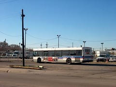 CTA Route # 52 Kedzie / California Avenue bus at the north terminal. Chicago Illinois. January 2007.