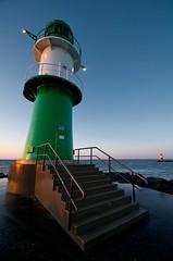 Warnemnde Lighthouses (blog.jmc.bz) Tags: sunset lighthouse beach strand geotagged deutschland warnemnde meer sonnenuntergang sommer promenade mole tamron leuchtturm landschaften 1024 mecklenburgvorpommern leuchttrme