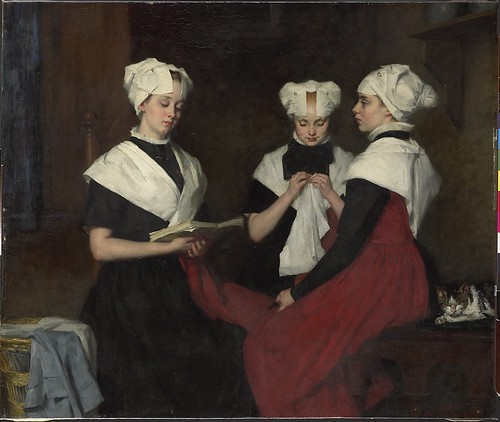 Three girls from the Amsterdam Orphanage. Thérèse Schwartze, 1885.