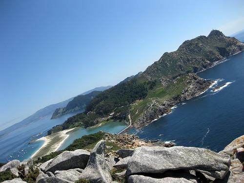 Illa do Faro dende o alto do Príncipe