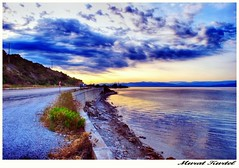 cloud,road and sea (mkurtel) Tags: sea beach clouds turkey nikon cove mount hdr d60 nikond60 altnoluk