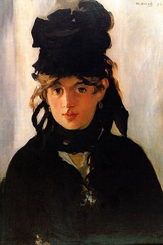 Portrait of Berthe Morisot, Edouard Manet