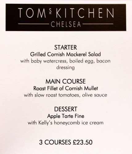 Cornish Menu at Tom Aikens