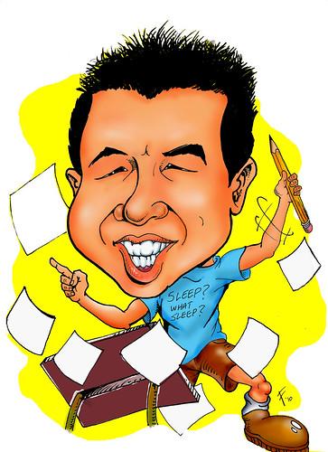 My caricature by caricaturist Robert Summer (Floyd)