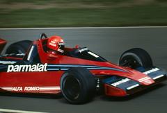 Niki Lauda Qualifying the Brabham in the British GP at Brands Hatch 1978 (Philinflash) Tags: england 6x6 car f1 racing hasselblad grandprix alfa 1978 formula1 gp motorsport autosport brandshatch brabham lauda motoracing