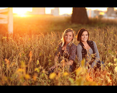 Golden Fields ~ Senior Aryn and Megan (~Phamster~) Tags: portrait senior canon flex sunflare pocketwizard 85l strobist phamster