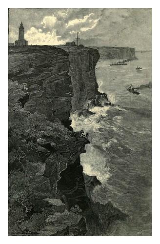 006-Acantilados de Sydney desde el sur-Australasia illustrated (1892)- Andrew Garran