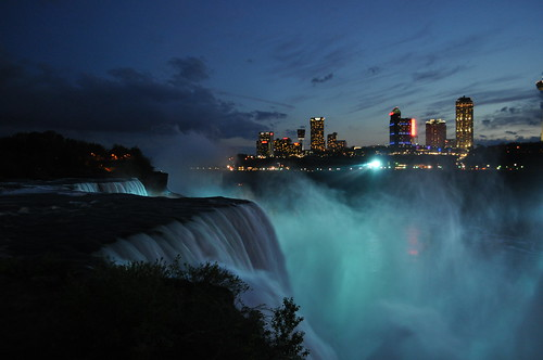 Niagara Falls at Dusk ~ Blue Mist