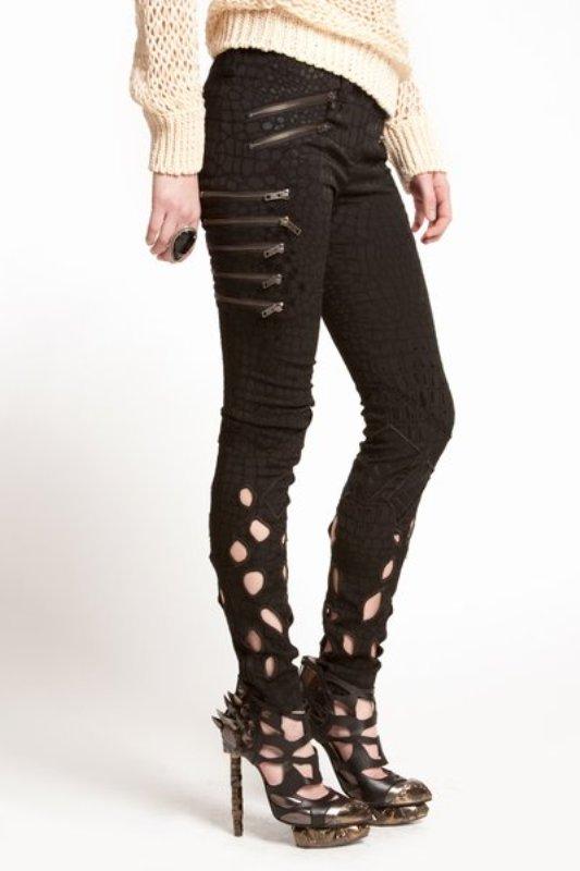 Rodarte SS2010 cutout zip jeans 2