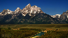 The Cathedral Group from the Snake River Overlook at Grand Teton National Park (D200-Paul) Tags: nationalpark snakeriver tetons grandteton grandtetonnationalpark thesnake cathedralgroup