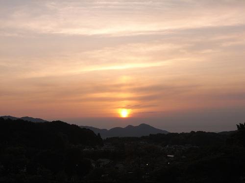 飛鳥の夕日(石舞台古墳)-04