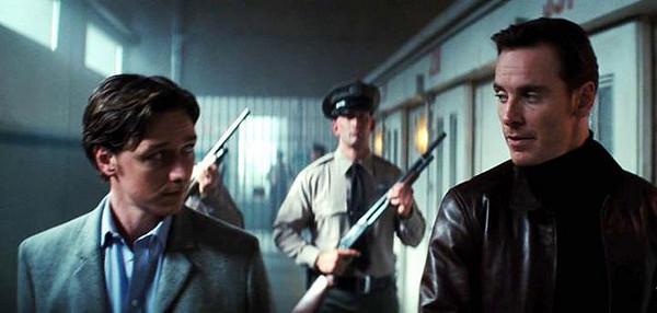 Charles Xavier or Professor X (James McAvoy) and Erik Lehnsherr or Magneto (Michael Fassbender)