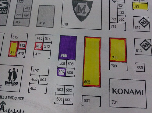 GenCon Exhibitor Map 2011