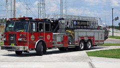Orlando Fire Dept Tower 10 (West Florida Fire Photography) Tags: engine paramedic ofd sutphen towerladder engine8 towertruck tower10 cityoforlando orlandofiredept floridafireapparatusstations cropped1920x1080