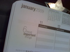 6 most important things list on a calendar. Photo by Becky McCray.