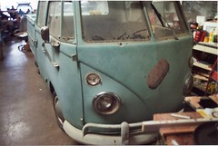1966 Double Cab VW Bus Truck For Sale in Irving, Texas - passenger side front view