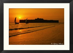 TRAVEL - Sunset @ Janjira Fort (Murud Janjira, India) ($ydney) Tags: travel sunset india tourism asia fort maharashtra murud janjira ydney sydneyalvares ppexhibitiondec2008