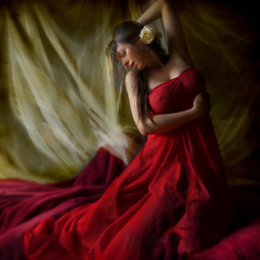 Can't you see that dress is red (Daneli) Tags: red woman selfportrait color art girl self canon dress artistic florida dana verobeach justimagine fivestarsgallery bratanesque daneli