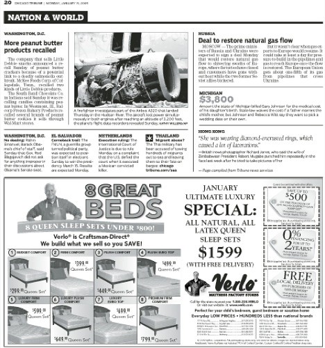 chicago tribune. Chicago Tribune as a tabloid