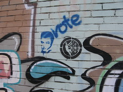 Graffiti (snowyowl_ecs) Tags: graffiti elvis vote scavengerhunt digitalphotographyproject