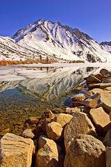 Convict Lake, Eastern Sierra, California (William Yu Photography / Chinaphotoworkshop) Tags: california usa mountain lake snow reflection peak sierra glacier convict eastern     chinaphotoworkshop